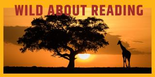 Tree and Giraffe with text Wild About Reading